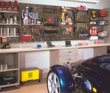 Garage Work Center Organization Garage Pinterest