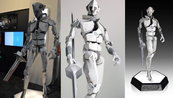 """Singleton the Robot Emerges from the """"Grey Goo"""" as a 3D Printed Robot by 3D Systems http://3dprint.com/40601/singleton-3d-printed-robot/"""
