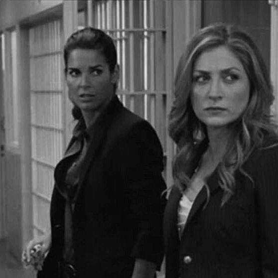 One of my fave Rizzles pics. Delicious looking Jane and fierce Maura. #RizzoliAndIsles