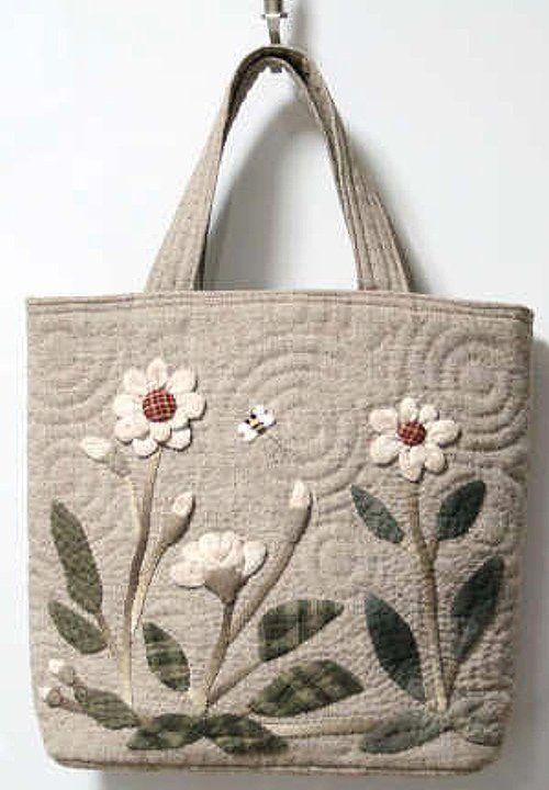 貝田明美 手提袋材料包/跳舞的花