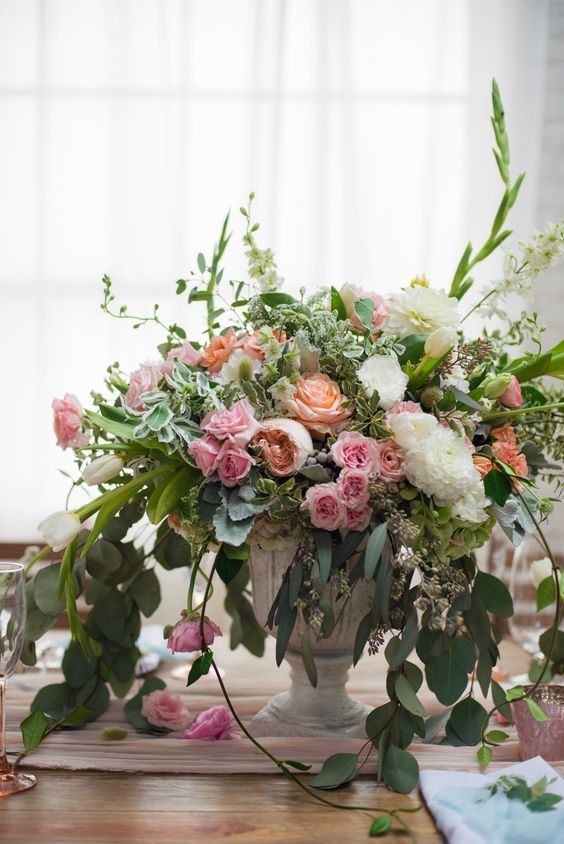 Table Arrangements   Southern Posies Weddings   Reception   Event and Floral Design
