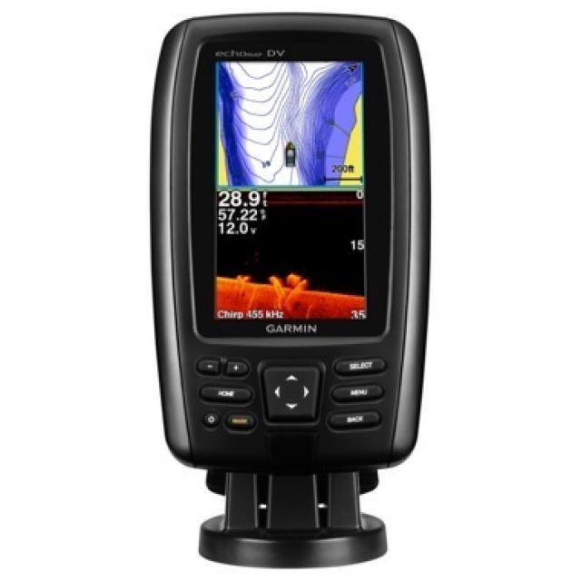 GPS e Sonar / ChartPlotter Garmin echoMAP 42dv CHIRP c/ Carta Náutica (c/ Transducer GT20-TM)