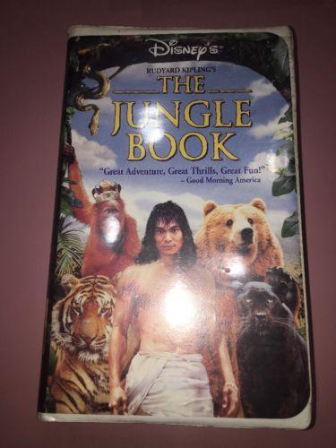 Rudyard Kipling's The Jungle Book VHS RARE DISNEY Jason Scott Lee/MfgSe