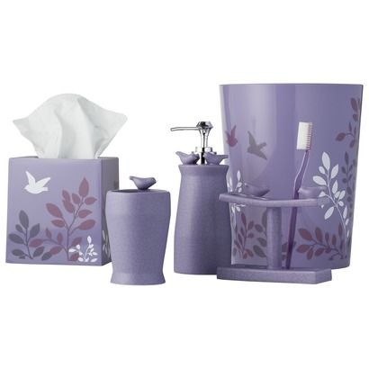 268 best images about bathroom set accessories on for Bathroom decor purple