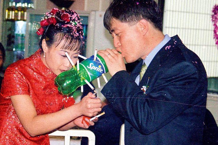 Smoking bongs on your wedding day
