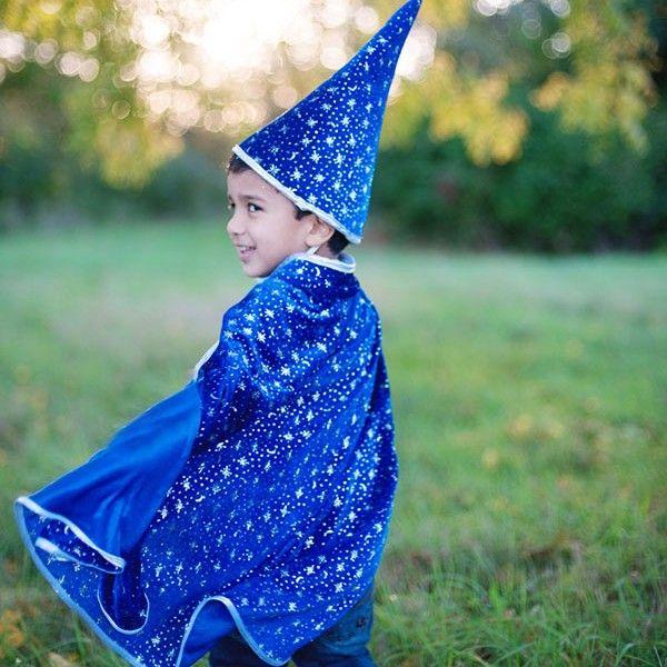 """Αποκριάτικο σετ Κάπα Μπλε με καπέλο """"Μάγος"""""""