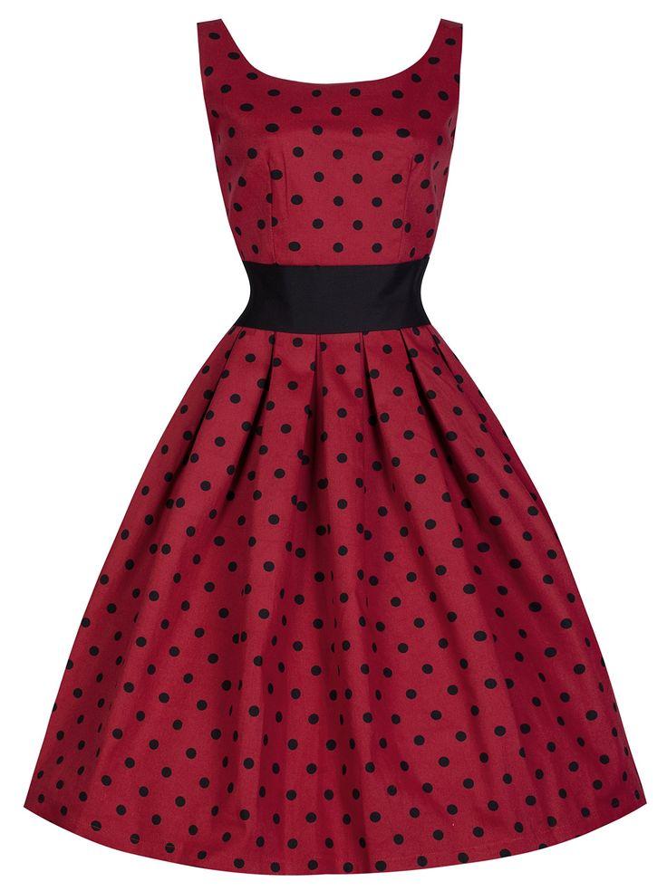 Lindy Bop 'Lana' Vintage Fifties Inspired Polka Swing Dress