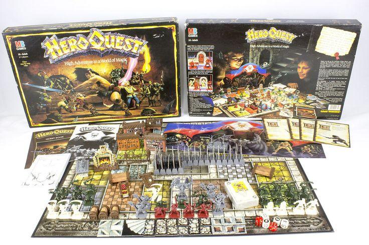 Vintage Heroquest Board Game Published by Games Workshop, 1989, Boxed