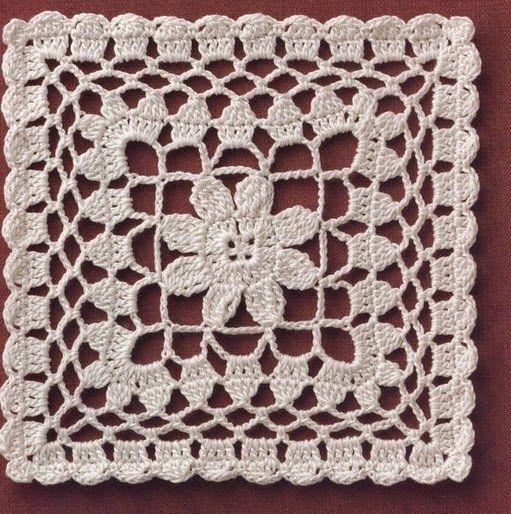 Ivelise Feito à Mão: Quadradinho Multi Uso De Crochê