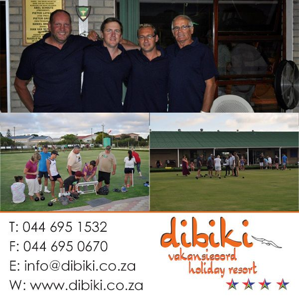 No wonder the holidays last December just flew by! Dibiki holidaymakers were really busy . On the bowling green they all put their best foot forward, Dibiki's role models had a close win. We all say Thank you for Frans and Aunty Truda who always help us - and the apron was exactly the right gift! #holidaymakers, #bowling, #activities