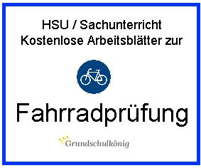 Kostenlose Arbeitsblätter und Übungen zur Fahrradprüfung in HSU / Sachunterricht in der 4. Klasse: Rechts vor links, Vorfahrtsregelung, Verkehrszeichen