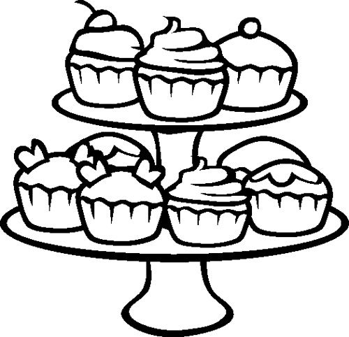 cupcakes coloring page outlines pinterest