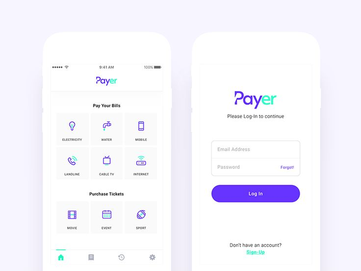 Payment App - Dashboard and Log In Views