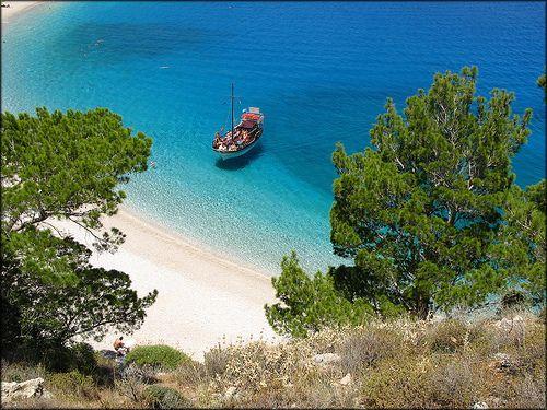 Apella beach nominated as the best beach in Mediterranean sea in 2002.