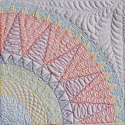 someday I'll be brave enough to do a whole cloth quilt with colored thread