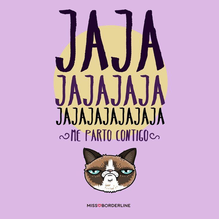 Jajajajajajajaja...me parto contigo! #sarcasmo #grumpycat #humor #frases #divertidas #graciosas #risas