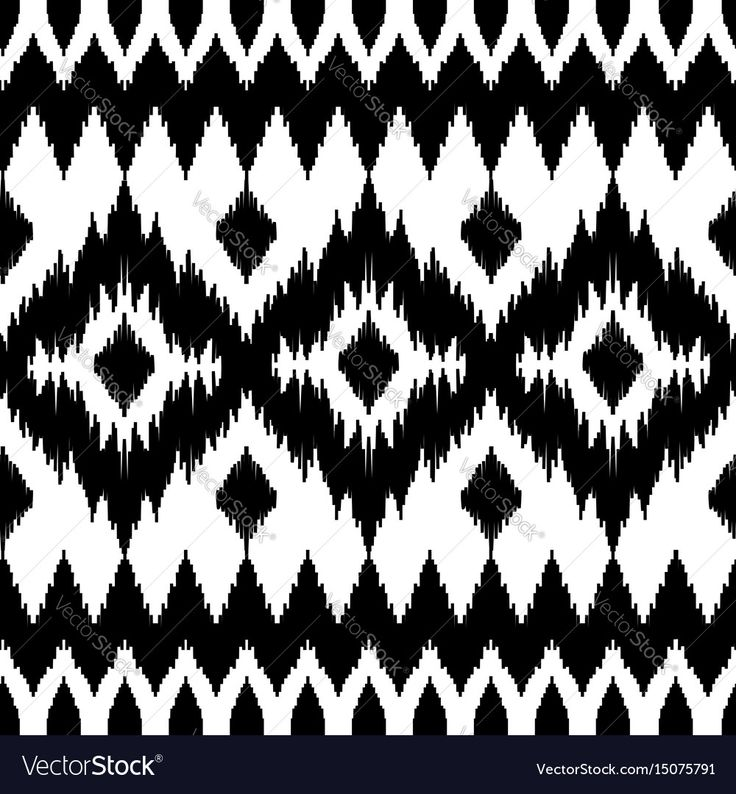 Ethnic Seamless Black And White Pattern Boho Abstract Textile Print Geometric Wallpaper With Squares
