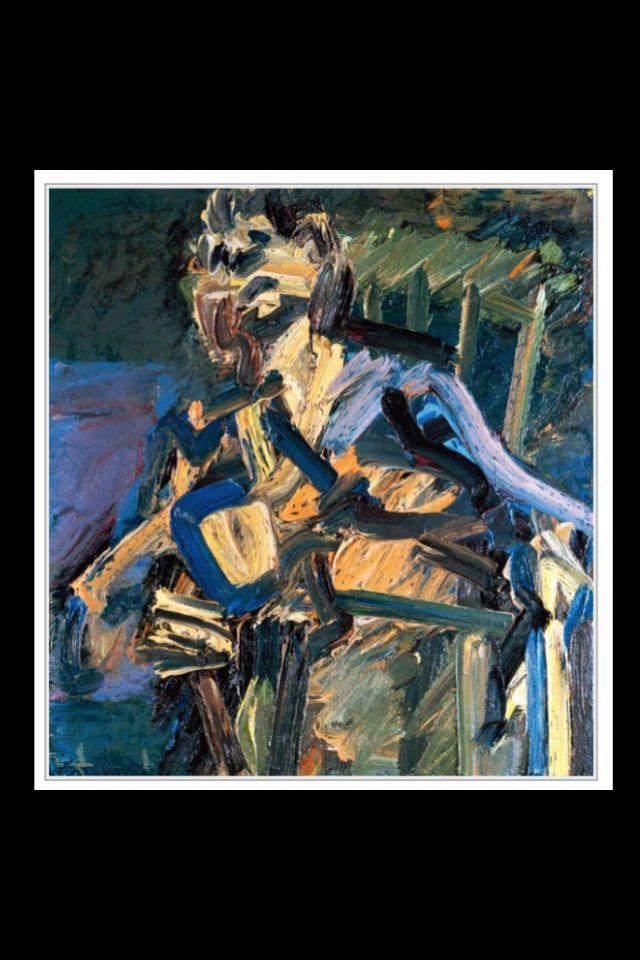 "Frank Auerbach - ""J. Y. M. Seated"", 1986/87 - Oil on canvas - 71,1 x 66 cm (*)"