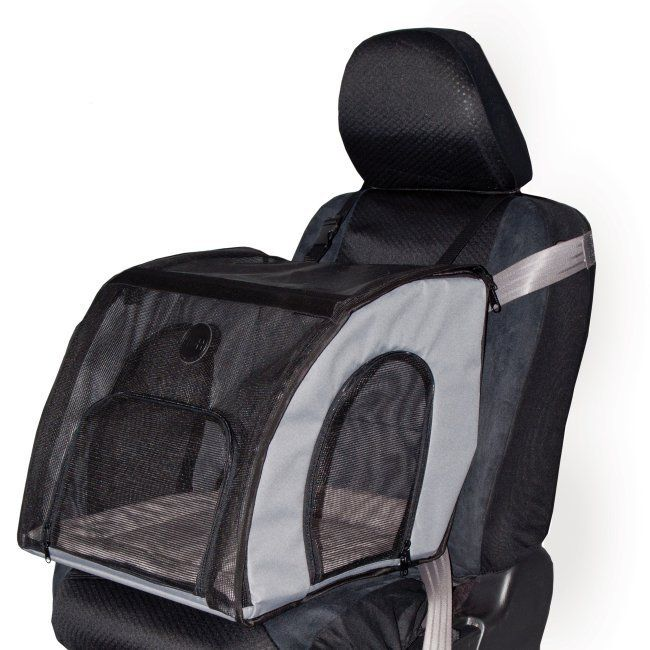 RadioFence.com - Travel Safety Carrier Pet Car Seat -Large folds flat for easy travel. Perfect cat carseat or dog carseat. $89.95 plus FREE SHIPPING! (http://www.radiofence.com/travel-safety-carrier-pet-car-seat-large/)