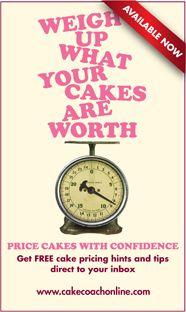 http://cakecoachonline.com/free/weigh-up-your-cakes-free-e-course/ sharing...Cake pricing?   If you have ever wondered - just how do I price my cakes - get hints and tips from CakeCoachOnline - best of all they are FREE http://cakecoachonline.com/free/weigh-up-your-cakes-free-e-course/
