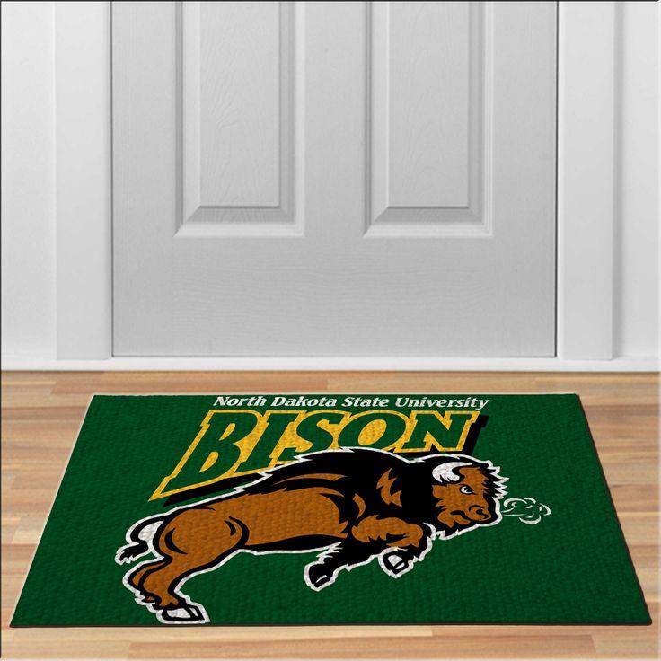 cool NDSU north dakota bison Football NCAA Collage Floor Durable Door Mat Non-Slip