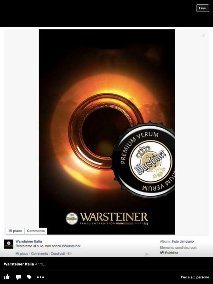 Resteremo al buio...non senza Warsteiner