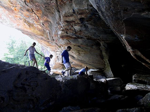 """During the warmer months of the year Stone Bridge and Caves also provides a great spot to grab an ice cream or milkshake. """"Caves"""", as we like to call it, is located just across the street from the campus."""