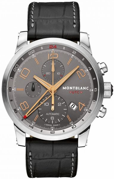 MontBlanc Timewalker Chronograph 107063 Mens 43mm Automatic Watch - Buy Now Lowest Price Guaranteed 100% Authentic FREE Overnight Shipping