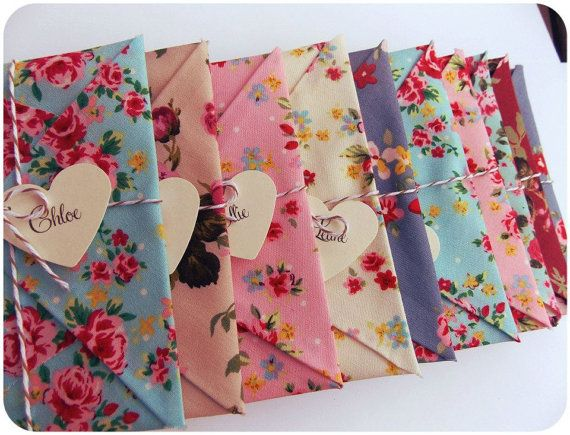 6 x Will you be my bridesmaid Card, Wedding Invitation, bridesmaid reveal. Maid of honour, Matron of Honour,  floral fabric envelopes
