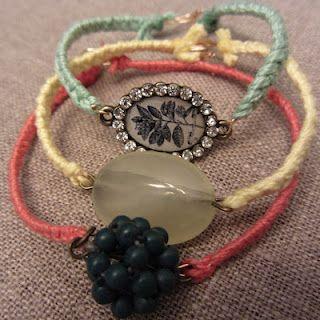 Linen, Lace, & Love: #DIY: Inspired by Anthropologie Pulp Stone #Bracelet: Bracelets Ideas, Stones Bracelets, Anthropology Bracelets, Homemade Bracelets, Diy Bracelets, Pulp Stones, Old Jewelry, Friendship Bracelets, Anthropology Pulp