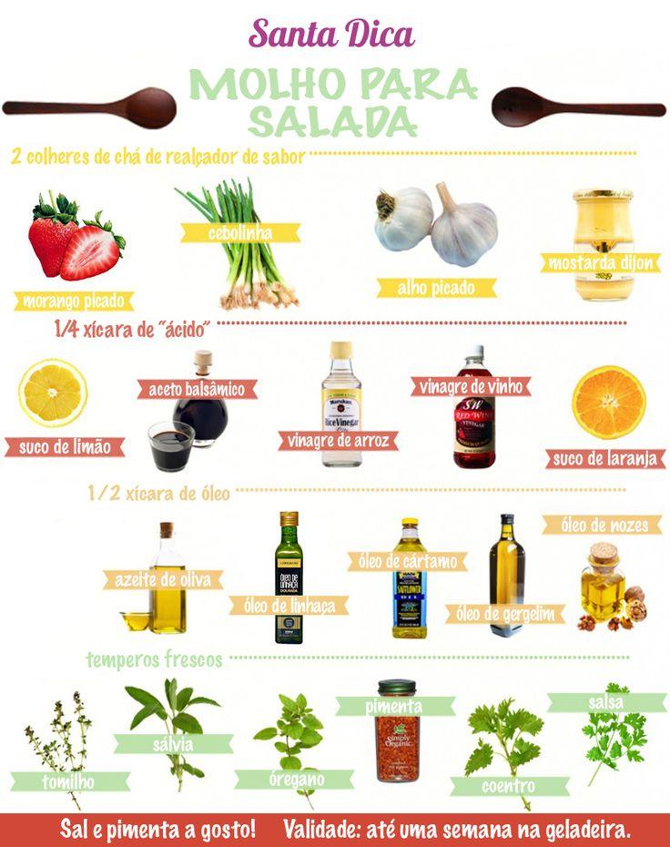 molhos para salada #magrices