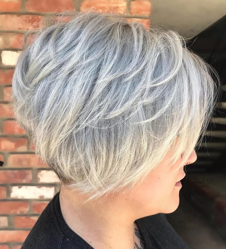 Aerial Gray Layered Pixie