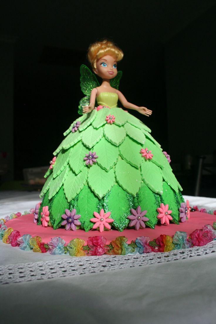 Best ever Tinkerbell dolly varden cake