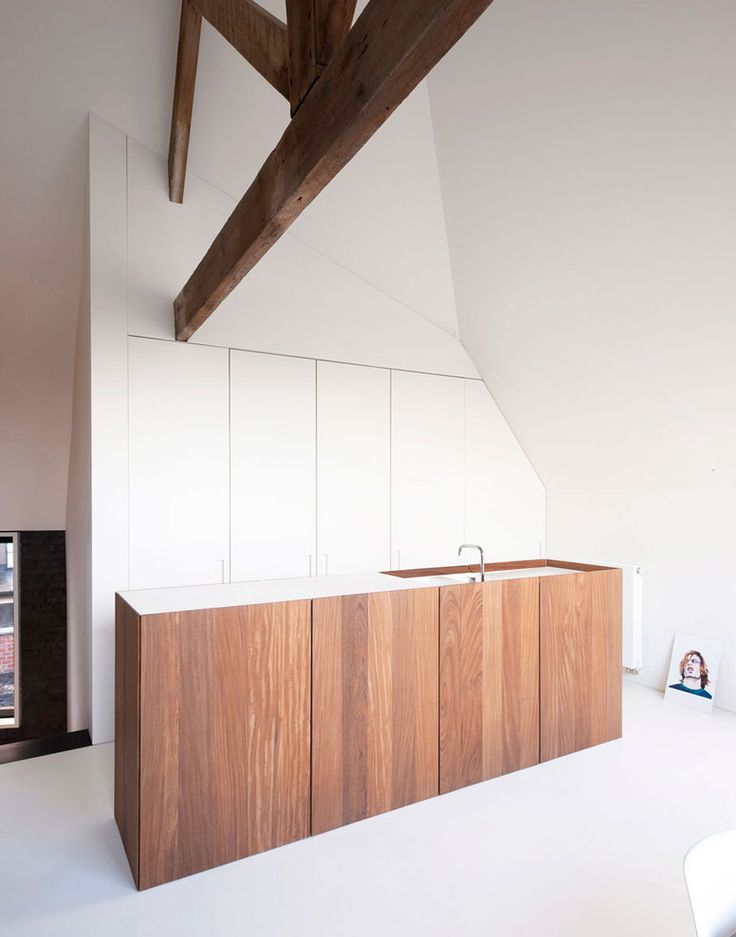 Kitchen inside the House G-S by Belgian architects Graux & Baeyens.