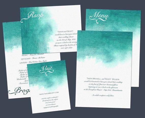 Just amazing. Watercolour invitations #wedding #invitations (Nraevsky)