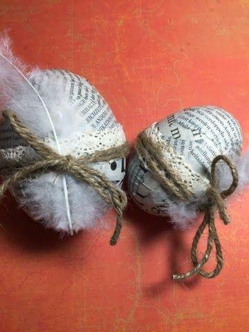 kreativMANUfaktur: Ostereier Styropor trifft Zeitungspapier