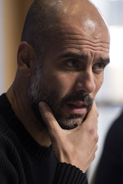 Manchester City's Spanish manager Pep Guardiola addresses the media during a press conference at the City Football Academy in Manchester, northern England, on October 31, 2016, ahead of their UEFA Champions League group C football match against Barcelona on November 1.  / AFP / OLI SCARFF