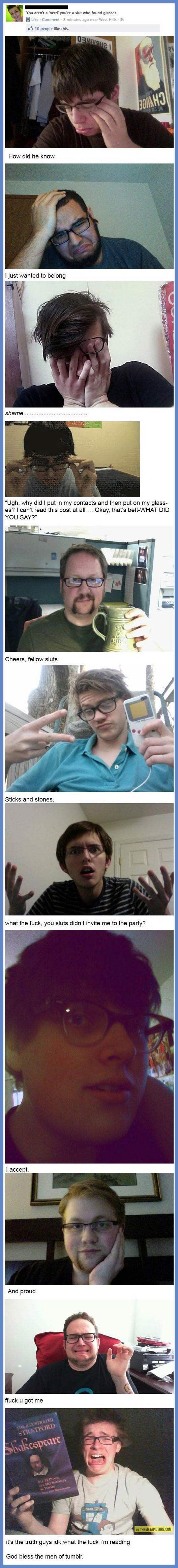 You aren't a real nerd… God bless the men of tumblr