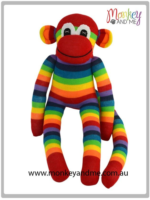 Charlie the Sock Monkey  Adopt over at http://monkeyandme.com.au #sockmonkeys #gifts #toys