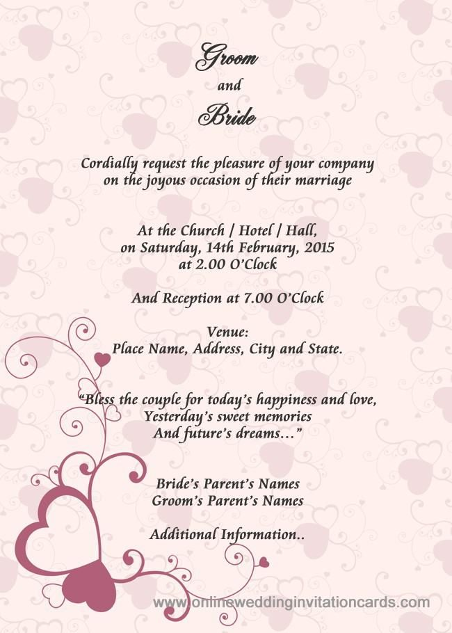 359 best wedding invitations images on pinterest christening awesome example of wedding invitation card 27 for free templates festival tech stopboris Image collections
