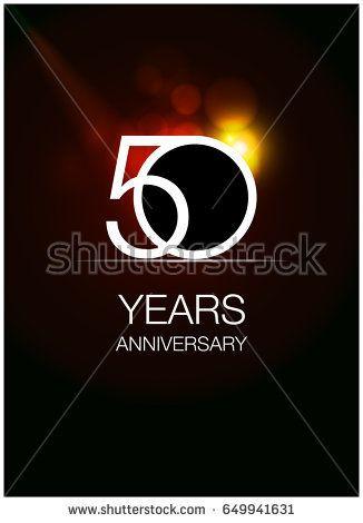 50 Anniversary Logo Celebration Isolated on dark Background