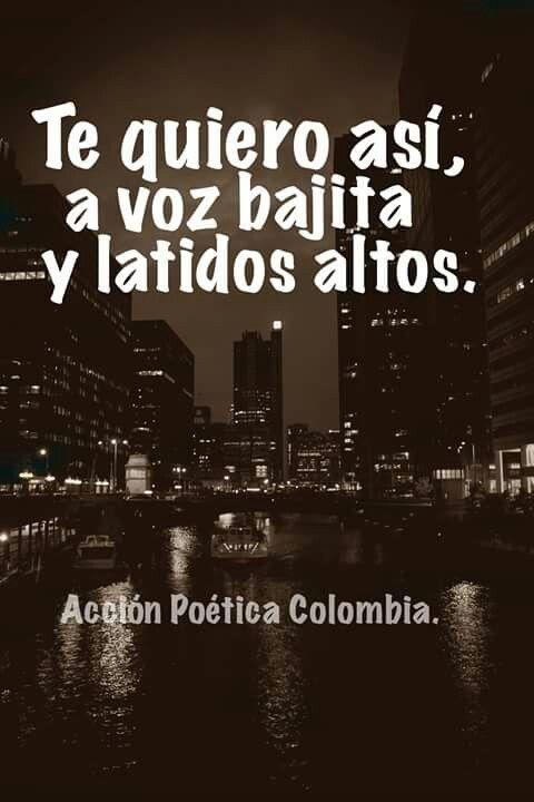 Te quiero así en voz bajita y latidos altos. http://www.gorditosenlucha.com/                                                                                                                                                      Más