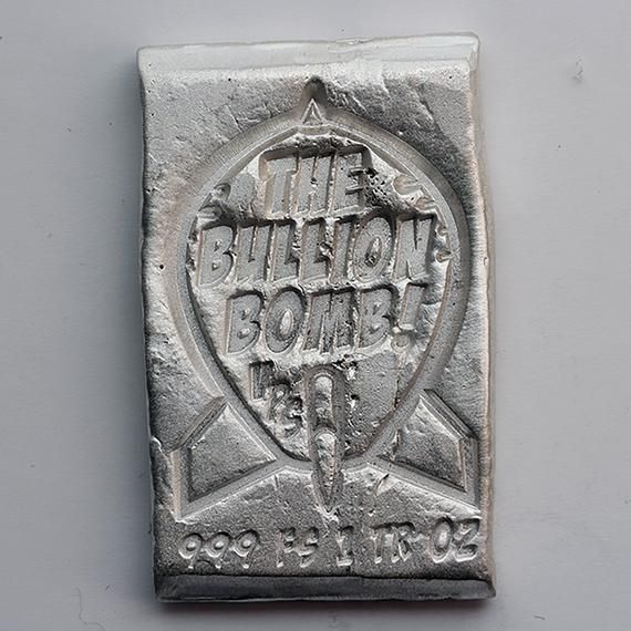 The Bullion Bomb 1 Tr Oz 999 Fine Silver Bullion Bar Etsy In 2020 Silver Bullion Silver Bullion Coins Gold And Silver Coins
