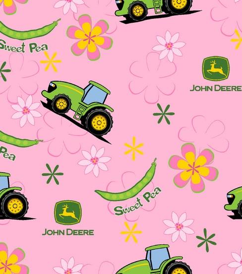 John Deere Pink Flannel Fabric J Amp D Board John Deere