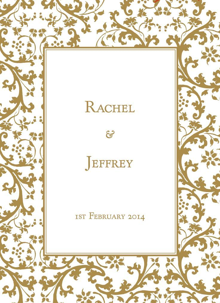 Gold Border Wedding Invitations Invitations Cards Printing In Au