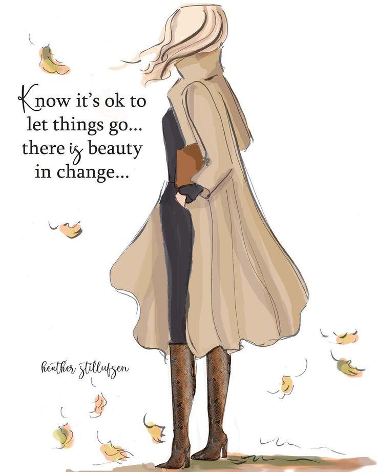 Ja, es ist in Ordnung loszulassen … 🍁🍂 das, was sein soll, findet seinen Weg zurück. …   – Inspiration