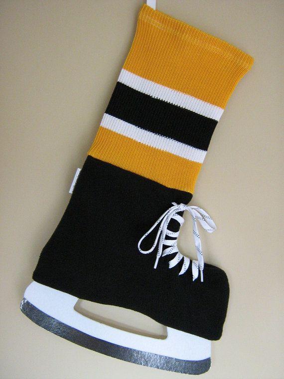 Boston Bruins  Hockey Inspired Christmas by HockeyStockings, $40.00