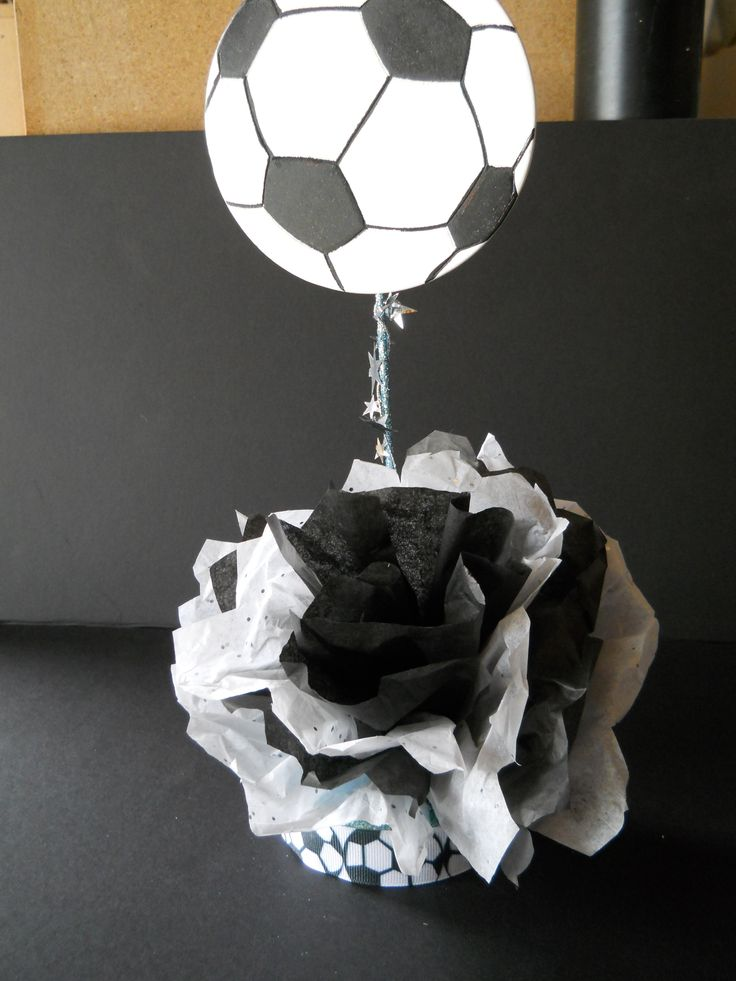 table decorations for soccer banquet