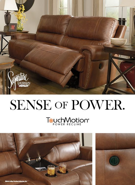 Sense of Power - Paron Dual Power Reclining Sofa - TouchMotion® - Ashley Furniture - & 2155 best Leather Recliners u0026 Recliner Chairs images on Pinterest ... islam-shia.org