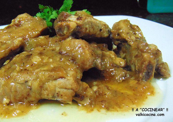 Costillas de cerdo en salsa olla rápida, con receta.